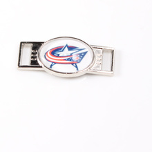 Columbus Blue Jackets NHL Hockey Team Logo Oval Shoelace Charms For Sport Shoes And Paracord Bracelets Jewelry Decoration 6pcs(China)