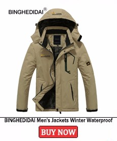 BINGHEDIDAI Men\'s Jackets Winter Waterproof Spring Hooded Spring Autumn Cotton Coats Men Outerwear Male Clothing