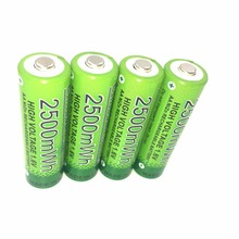4 Pcs/lot ETINESAN 2500mwh NiZn 1.6V AA Rechargeable BATTERY more than 1.5v High Voltage For High Drain Usage(China)