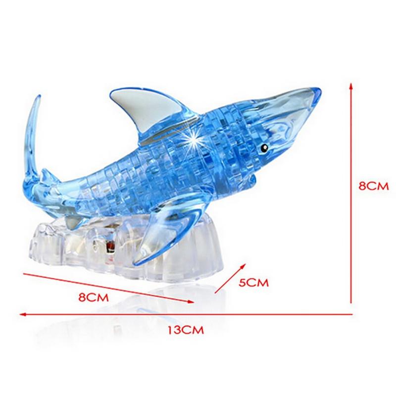 """""""Sparkle Shark"""" 3D Shark Puzzle Crystal 4"""