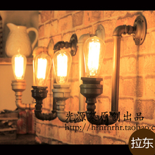 The light source set produced pipe LED wall light retro coffee bar decoration creative personality wall lamp