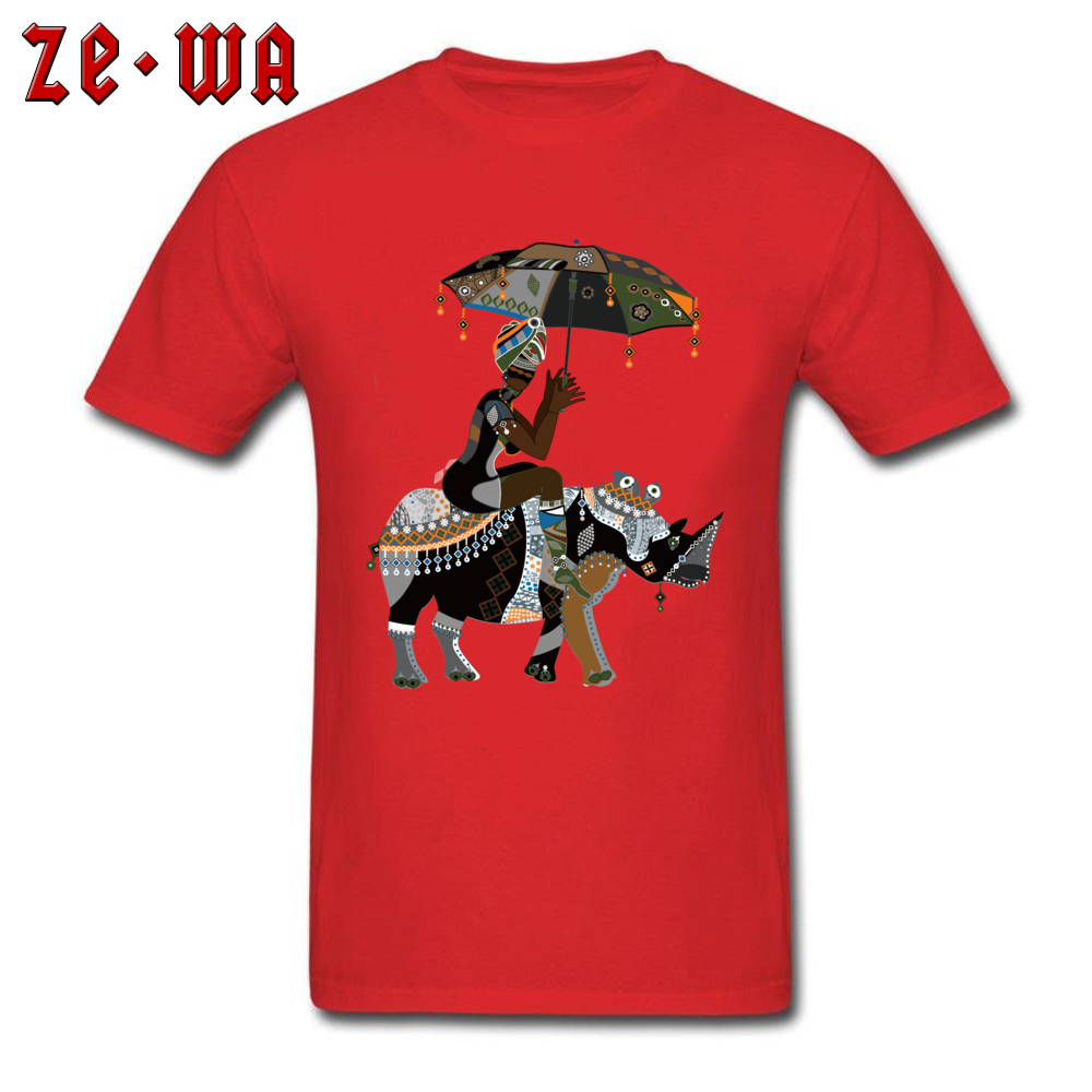 Fitted african art drawing african people T Shirts Crewneck 100% Cotton Men Tops T Shirt Short Sleeve Summer/Fall Tops Shirts african art drawing african people red
