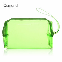 Osmond Clear Women Cosmetic Bag Transparent Multi Functional Travel Toiletry Zip Pouch Plastic PP Bag Lady Makeup Organizer Case