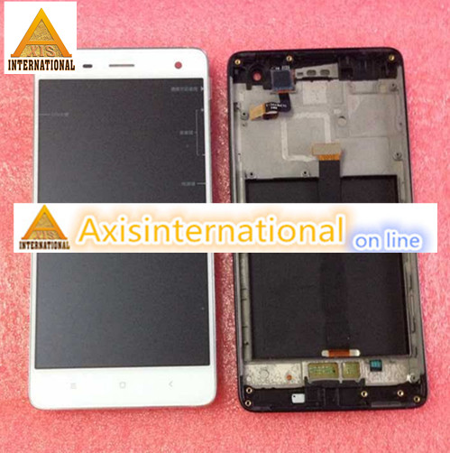 White or Black LCD screen display + Touch digitizer with frame  For XIAOMI 4  M4 MI4  WCDMA or TDSCDMA  white or black<br>
