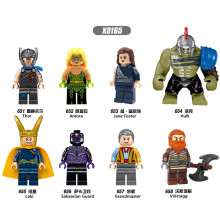 Single Sale Building Blocks X0165 Thor Amora Jane Loki Sakaarian Figures Marvel Super Heroes Star Wars Action Bricks Kid DIY Toy