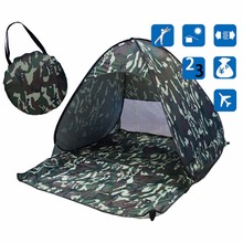 Ship From US Outdoor Camping Tent Hiking Beach Single Person Tent UV Protection Fully Automatic Sun Shade Portable Beach Tent(China)