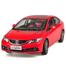 Red 1:18 New Honda Civic SI 2014 Sport Version Diecast Model Show Car Miniature Toys