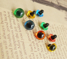 new arrvial 50pcs handscrew toy eyes green/red/yellow/blue/clear color option--9mm/10.5mm/12mm/13mm/15mm(China)