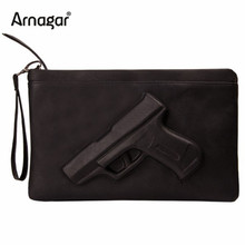 Arnagar 3D Print gun bag women messenger bags designer clutch purse famous women bag lady envelope clutches with strap or chain(Hong Kong)