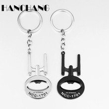 Star Trek Bottle Opener Keychain AccessoriesStar Wars USS Enterprise NCC 1701 Pendant Key Chain Ring Holder Personality Keychain(China)