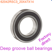 20mm Diameter Deep groove ball bearings 6204 2RS C3 20mmX47mmX14mm Double rubber sealing cover ABEC-1 CNC,Motors,Machinery,AUTO