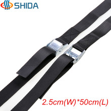 Hot Sale 5PCS 2.5cm*50cm High Quality Travel Cargo Lashing Polyester Webbing Strap Ratchet Tie Down with Cam Buckle Winch Strap(China)