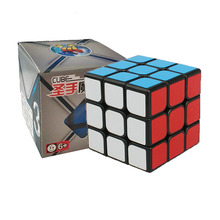 Shengshou Classic Toys Cube3x3x3 PVC Sticker Block Puzzle Speed Magic Cube Colorful Learning&Educational Puzzle Cubo Magico Toys(China)