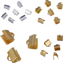 LNRRABC Fashion 5*6MM 80pcs/lot Gold/Silver Cord Crimp Ends for Necklace Bracelet DIY Jewelry Findings Parts Accessories