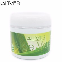 AL'IVER 100% Pure Natural and Cold Pressed Organic Aloe Vera Gel For Face/Hair/Body Multi-effect Face Cream Face Mask Skin Care(China)