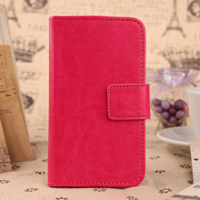 ABCTen Cell Phone Protective Case Flip Magnetic Clasp PU Leather Cover For AMIGOO H2000 4.5""