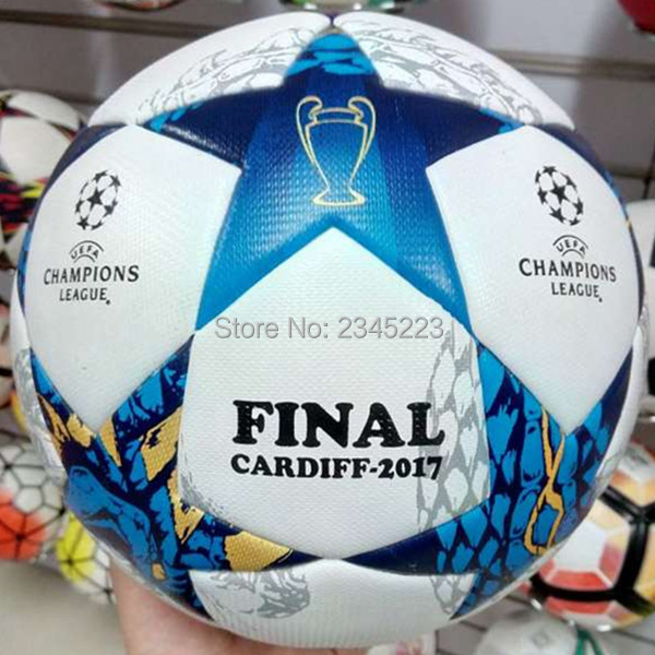 New Arrival 2017 Final Cardiff Champions League Size 5 Seamless PU Soccer Ball Top Quality Football Size 5 Free Shipping<br><br>Aliexpress