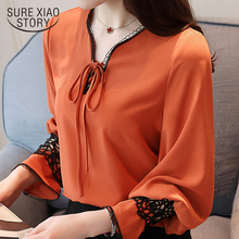 Buy 2018 new women tops fashion long sleeved blouses lace casual office lady women clothing chiffon shirts female blouses D473 30 for $12.78 in AliExpress store
