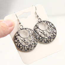 Bohemia Tibet Jewelry Tibetan Silver Vintage Carving Retro earrings for women 2017 earings  indian jewelry  C287