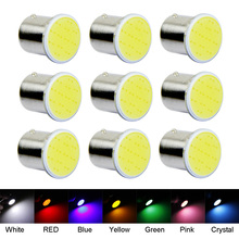 10PCS Super Bright White COB P21W Led 1156 BA15S DC 12V Bulbs Car-Styling External Lights Auto Car Parking Brake Fog Light Lamps