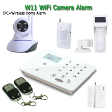 IP Camera Wireless WIFI Camera Alarm System Home Security PTZ Control Spanish Italian W11F With GSM Alarm Panel Android APP K9