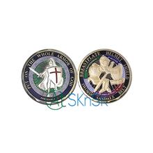 6 Styles Mixed Deisgn 50pc/lot US Knight Templar Put on the Armor of God Challenge Coin