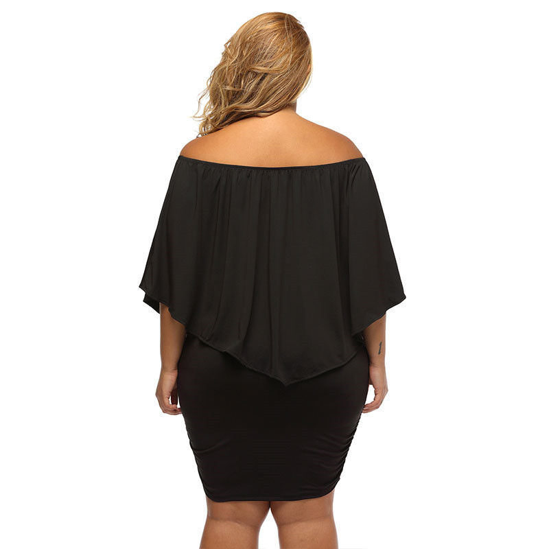 17 Women Plus Size Layered Dress Red Off Shoulder Femme Sexy Autumn Dresses Large Big Size Women Casual Mini Dress XXXL XXL 2
