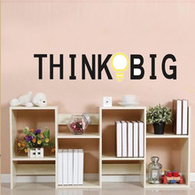 New Personalized Think Big Wall Lettering Words Decal Vinyl Quote Sticker Decor high quality