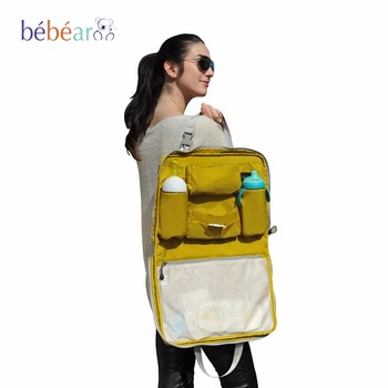Multifuncional Leve Viagem Saco Saco de Fraldas Bolsa Maternidade Sacos de Fraldas Do Bebê Mãe Sacos Das Senhoras Bolsa saco carro pendurado