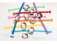 10pcs/lot Lovely Japan Kitty Crossover Silicone Armband Kids Party Costume Birthday Festival Party Take-home Favor Gift