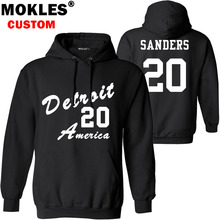 SANDERS pullover free custom name number logo us Barry autumn winter jersey keep warm pure black blue KS white gray red clothing(China)