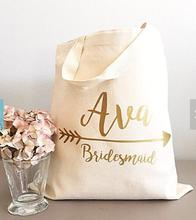set of 6 Personalized name bridesmaid tote bags wedding gift Bags Bachelorette bridal shower Champagne Party favors pouches