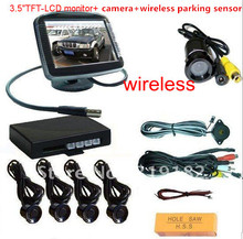 "promotion/3.5"" TFT video parking sensor/3.5 rear view monitor +camera+ wireless parking sensor for car parking assisstance(China)"
