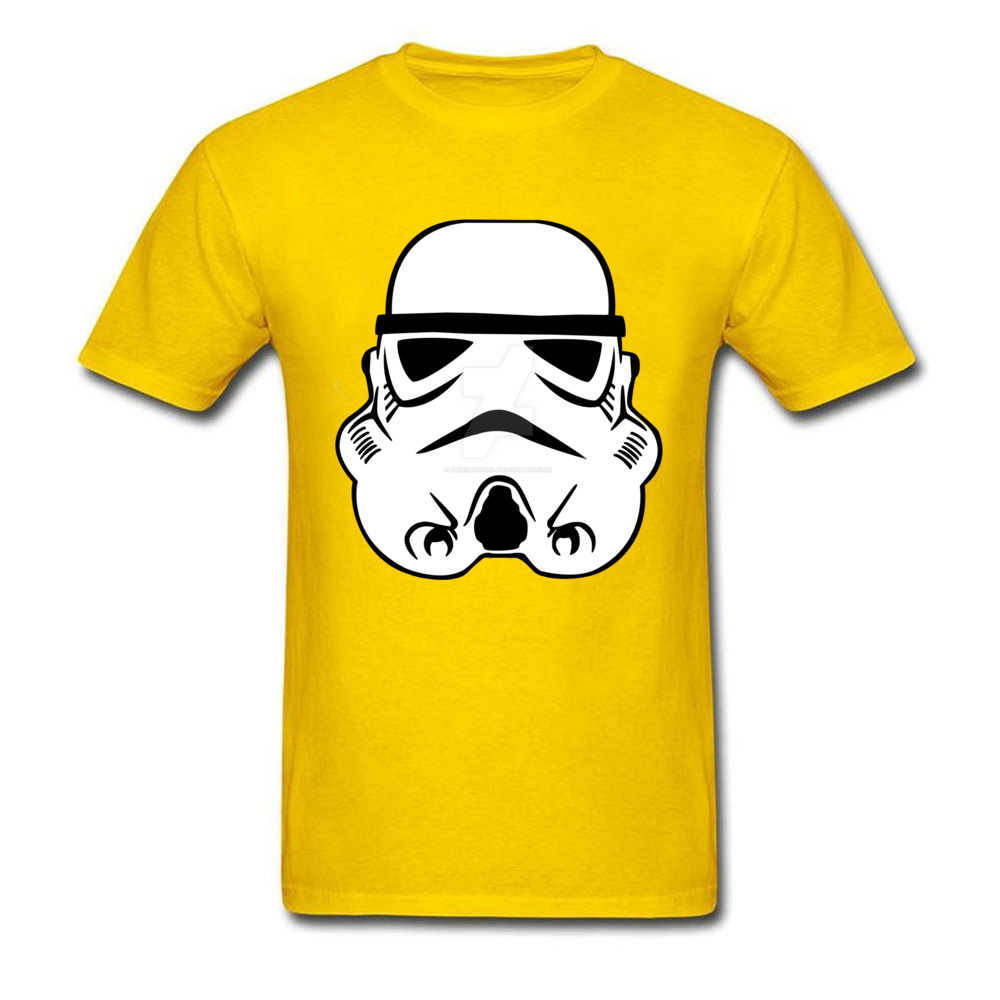 Newest Stormtrooper 10 Short Sleeve T-Shirt Summer/Autumn Round Neck Pure Cotton Tops & Tees for Men Tops Shirt Simple Style Stormtrooper 10 yellow