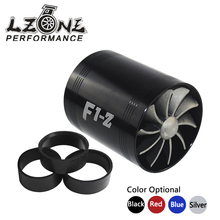 LZONE RACING - F1-Z Double Turbine Turbo Charger Air Intake Gas Fuel Saver Fan Car Supercharger JR-FSD11(China)