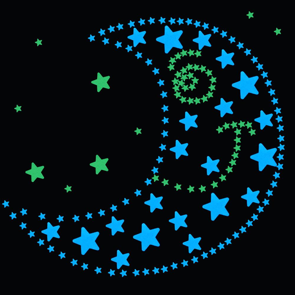 HTB1PFeVRVXXXXcQXpXXq6xXFXXXx - 100pcs Fluorescent Glow in the Dark Stars Wall Stickers for Kids Rooms