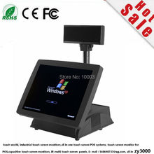 "new stock pos terminal cheap 15"" resistive all in one touch pos systems(China)"