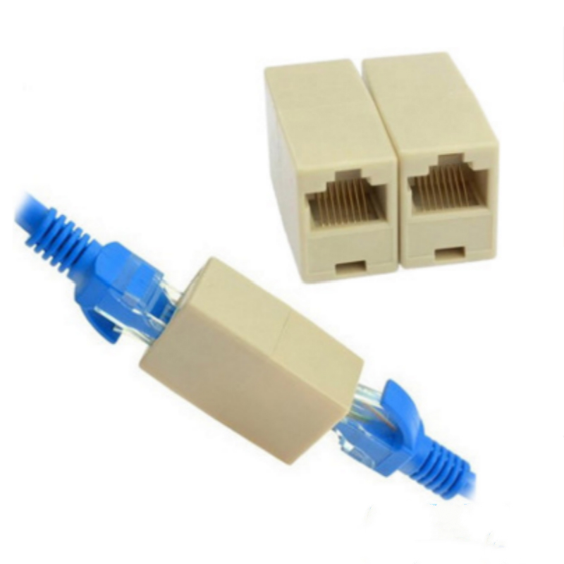 RJ45 Coupler Connector Joiner Extender For Cat5 5e Lan Ethernet Network Cable AU