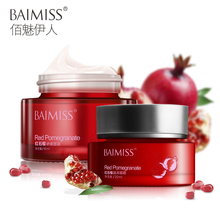 BAIMISS Red pomegranate moisturizing series Face Cream Skin Care Sets Whitening Anti Aging Wrinkle Cream Facial set 2pcs(China)