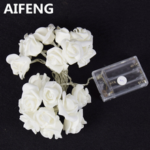 AIFENG AA battery operated garland lights christmas decorations rose garland 10LED 20LED holiday lights fairy led light battery