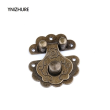 2017 Rushed Promotion Jewelry Box Latches 20pcs 36 * 40mm Antique Padlock Hasp Lock Box Clasp Buckle Metal Flower Latch Retro