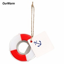 OurWarm 10Pcs Wedding Favors and Gifts Lifesaver Bottle Opener Tags Wedding Decoration(China)