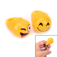 Lighting Emoji Finger Ring 12Pcs Flashing Expressions Finger Rings Boy Girl Dress Decoration Birthday Glow Party Supply(China)