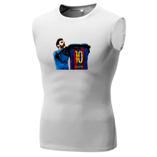 2017 Lionel Messi 500 GOALS camiseta FC Barcelona TO Madrid tee T Shirt leo messi Compression Tights printing Quick Dry Tops