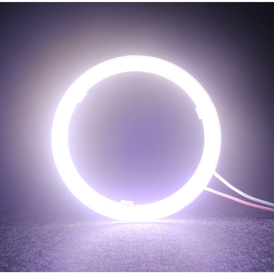 LED Angel Eyes COB 2PCS Auto Halo Ring Car Motorcycle With Lampshades 12V For BMW E60 E39 60MM 70MM 80MM 90MM 100MM 110MM 120MM(China)