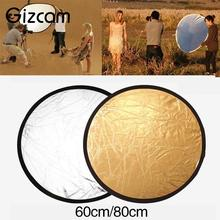 Gizcam 60cm 2-In-1 Studio Light Mulit Photo Collapsible Reflect Round Reflector(China)