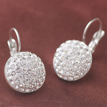 Fashion Shiny Full Austrian rhinestone Crystal Earring wholesale(China)