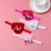 Lovely Girls Elastic Hairband Crytral Heart Headband Party Headwear Hair Band Accessories 2017 Hot Sale