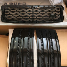 Fit for Land Rover Range Rover Vogue 2014 2015 2016 2017 3 PCS/SET SVO Black Front Bumper Hood Center Grille With Air Vents Kit(China)