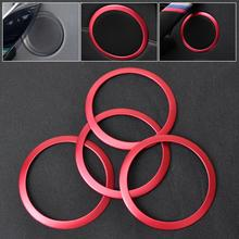CITALL New 4Pcs Interior Door Stereo Speaker Trim Cover Red Ring For BMW 3 Series F30 F34 320 328 335 2014 2015(China)